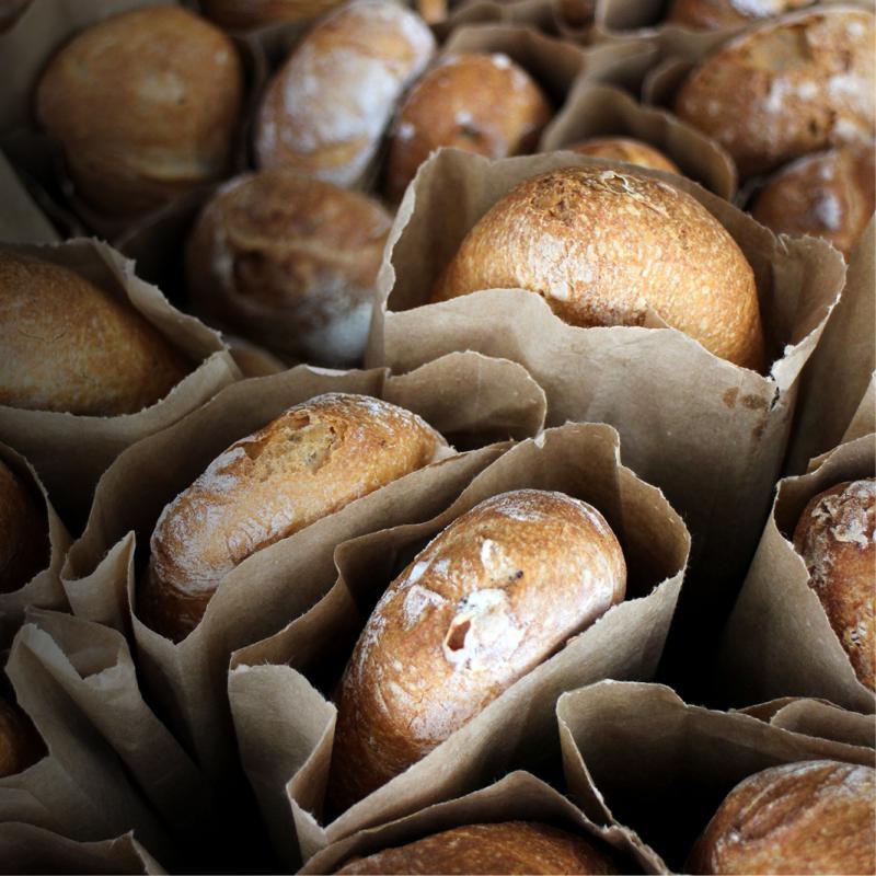 pains en sacs en papier